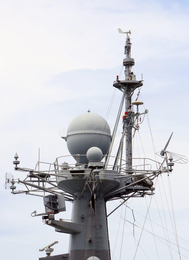 Skeppen använde radar för att avkänna royaltyfria bilder