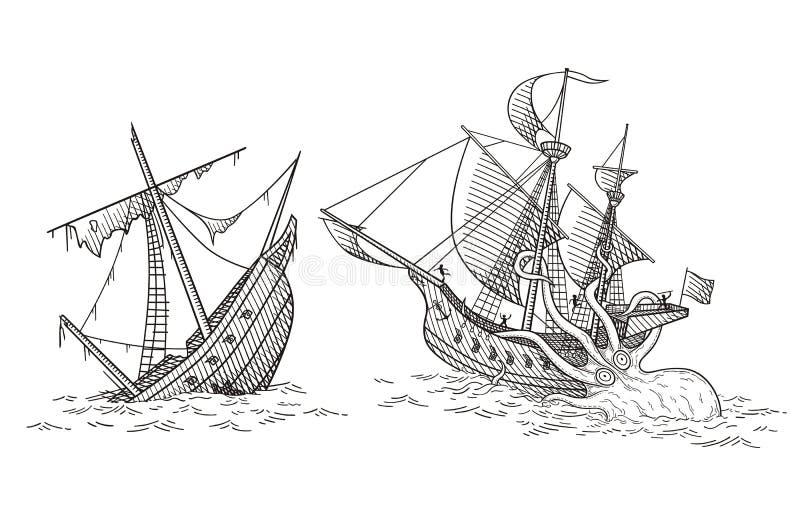 Skeppfruktdryck stock illustrationer