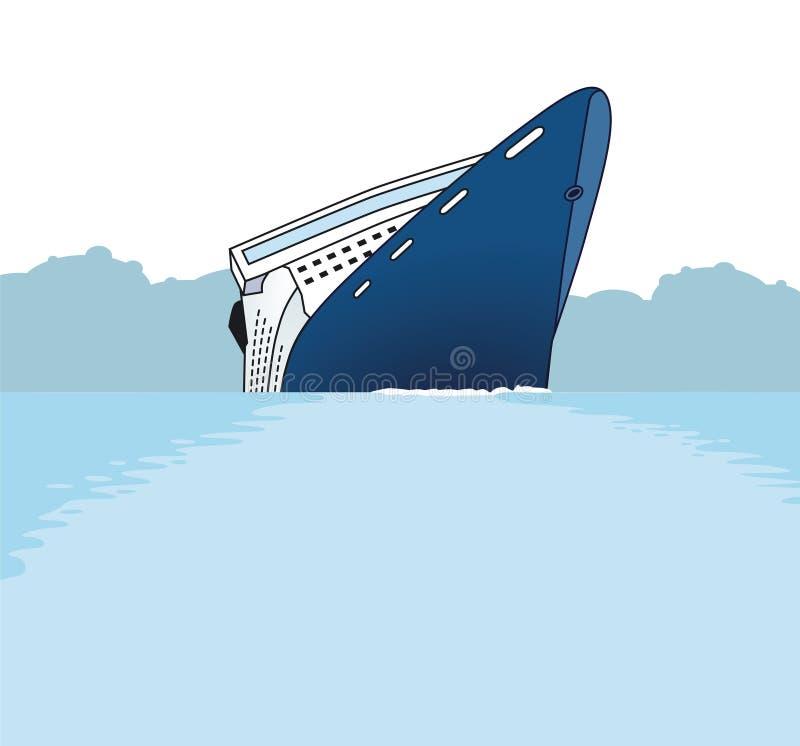 skeppsbrott stock illustrationer