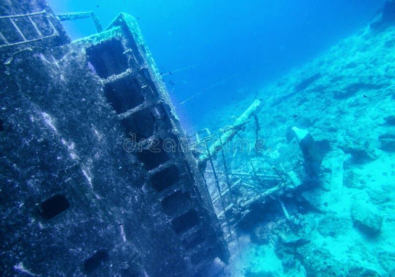 Skeppsbrott i den Saronic golfen av Grekland royaltyfri fotografi