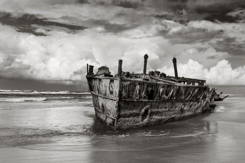 Skeppsbrott på Fraser Island Australia royaltyfri fotografi