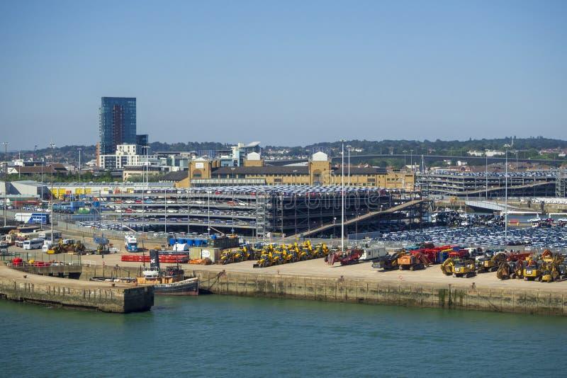 Skeppsdockabussgarage på Southampton royaltyfri bild