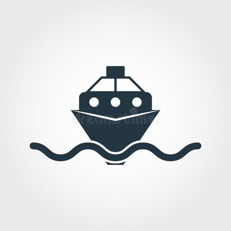 Skeppsymbol Enkel beståndsdelillustration Design för symbol för skeppPIXEL perfekt från transportsamling Genom att använda för re vektor illustrationer