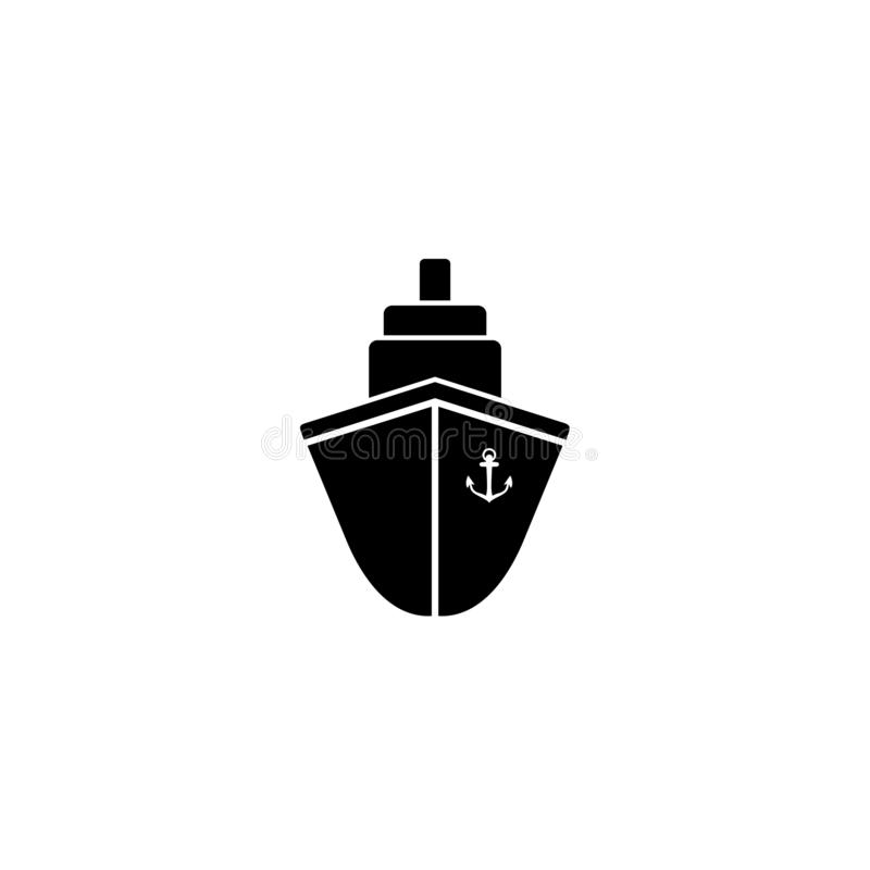 Skeppsymbolsl?genhet svart pictogram p? gr? bakgrund ocks? vektor f?r coreldrawillustration royaltyfri illustrationer