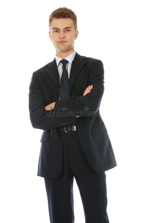 skeptical affärsman royaltyfria foton