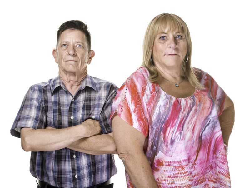 Skeptical or Angry Transgender Man and Woman royalty free stock photos