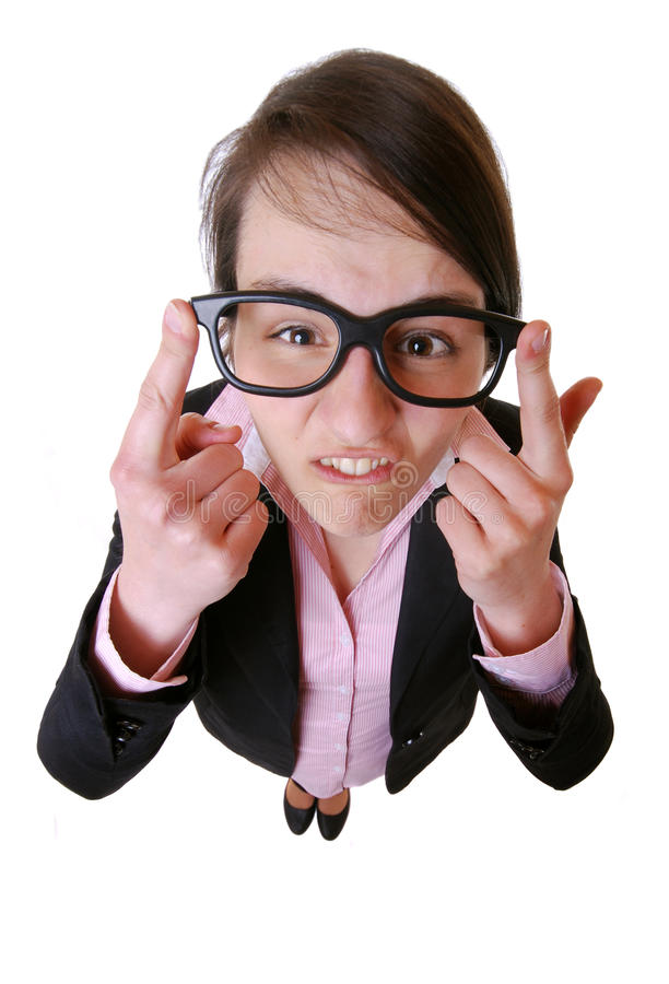 Download Skeptical businesswoman stock photo. Image of body, funny - 19648468