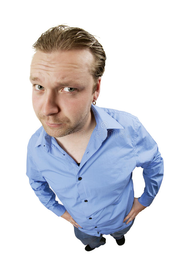 Skeptical male stock images