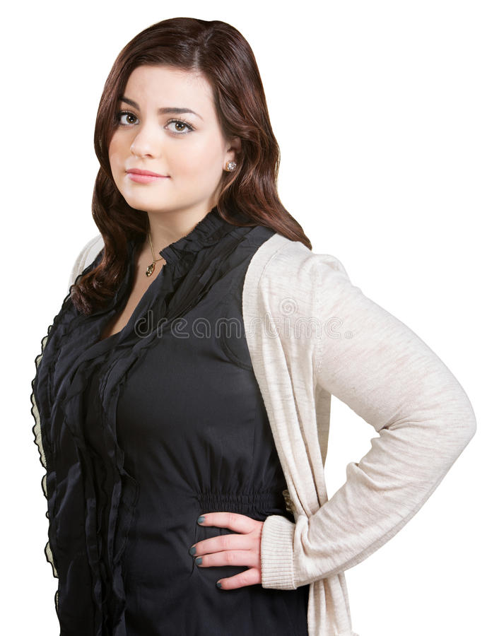 Lady with Hands on Hips stock images