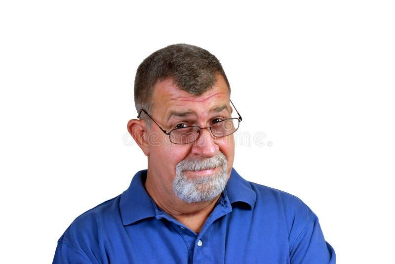 Skeptical Senior Man royalty free stock photography