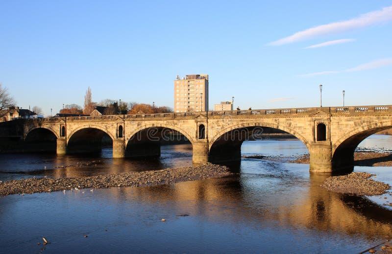 Skerton most nad Rzecznym Lune, Lancaster, UK fotografia stock