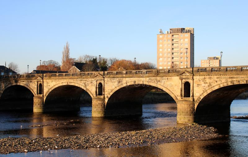 Skerton most nad Rzecznym Lune, Lancaster, UK obraz stock