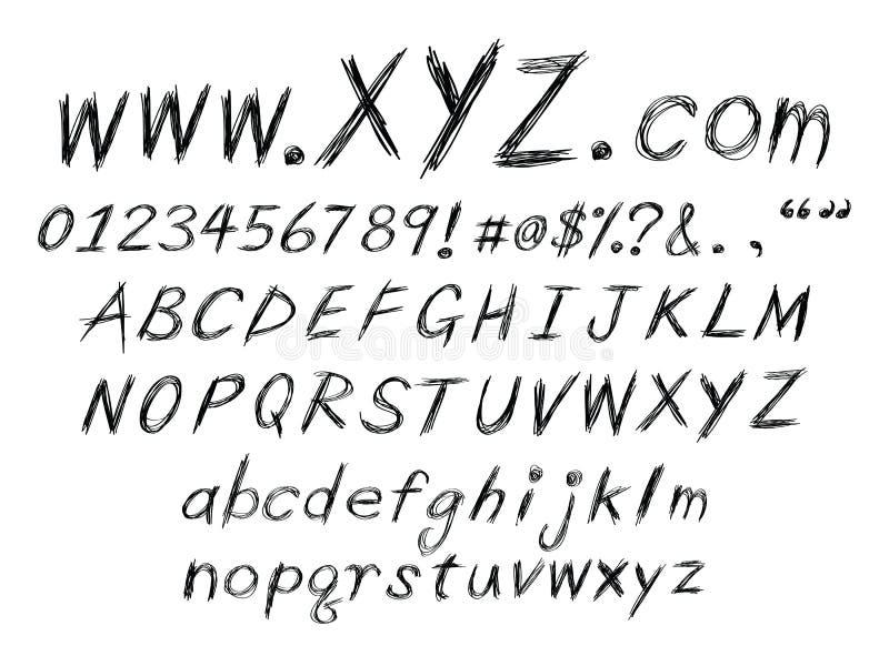Download Sketch alphabet stock vector. Image of texts, website - 21049762