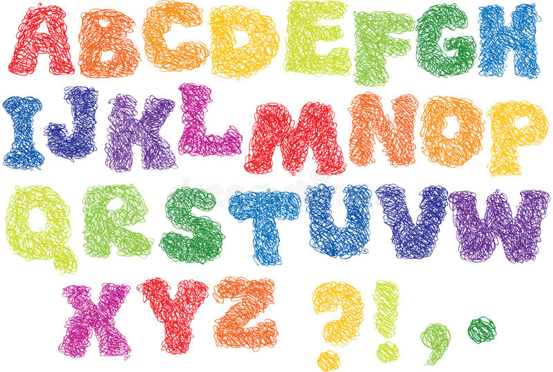 Download Sketch Alphabet - Scribble Stock Photo - Image: 21995840