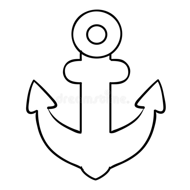 Anchor Coloring Stock Illustrations 543 Anchor Coloring Stock Illustrations Vectors Clipart Dreamstime