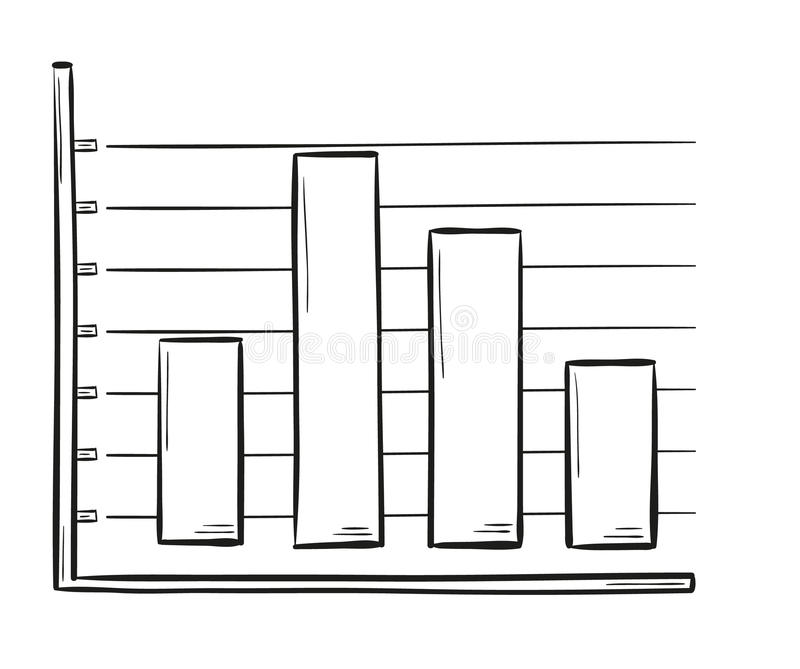 sketch of the bar chart stock vector  image of cartoon