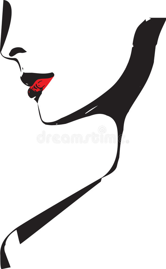 Sketch of Beautiful Woman face illustration. Abstract sketch of Beautiful Woman face illustration royalty free illustration