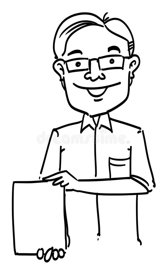 Download sketch cartoon man stock illustration illustration of draw 37710810
