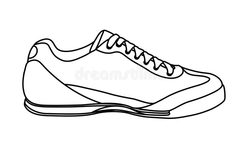 Download Sketch Of Casual Shoe Sneakers Royalty Free Stock Photography