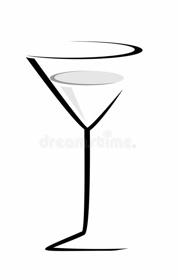 Sketch of cocktail glass vector illustration