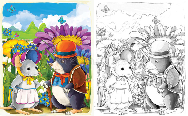Download The Sketch Coloring Page With Preview - Artistic Style - Illustration For The Children Stock Illustration - Illustration: 33577566