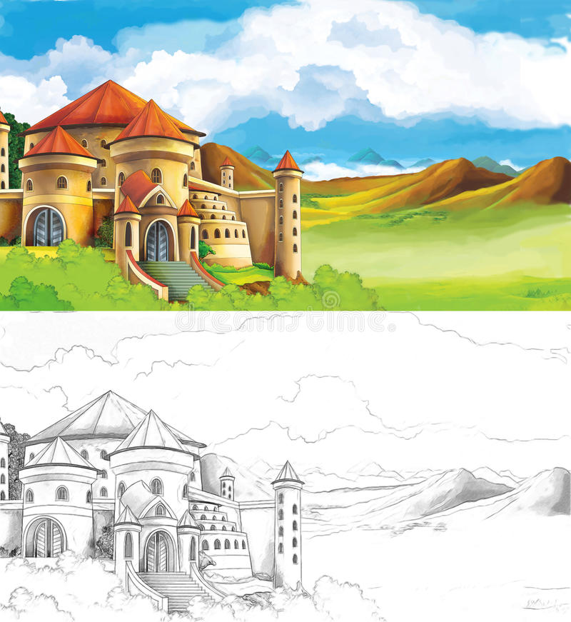 Download The Sketch Coloring Page With Preview Stock Illustration - Image: 33574882