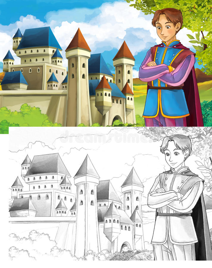 Download The Sketch Coloring Page With Preview Stock Illustration - Illustration: 33575805
