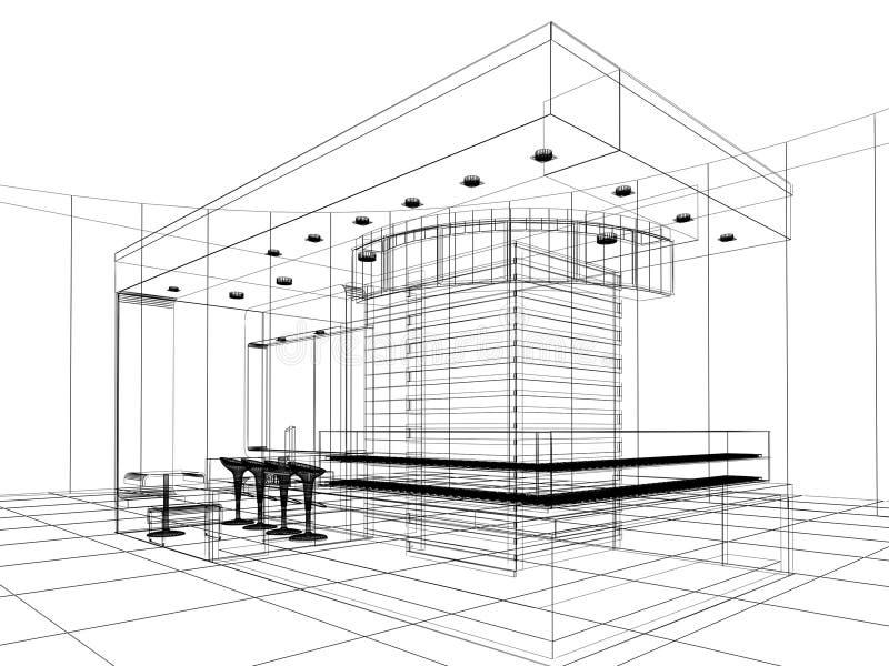 Sketch design of shop stock illustration
