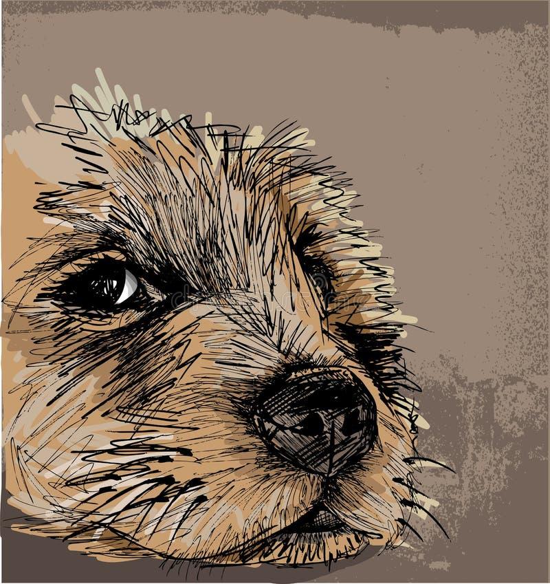 Sketch of a dog vector illustration