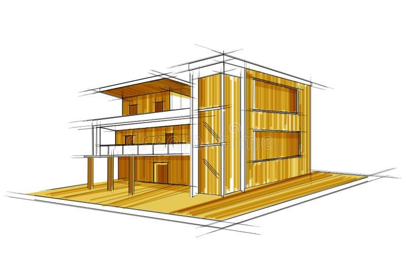 Sketch of exterior building draft blueprint design stock vector download sketch of exterior building draft blueprint design stock vector illustration of doodle construction malvernweather Images