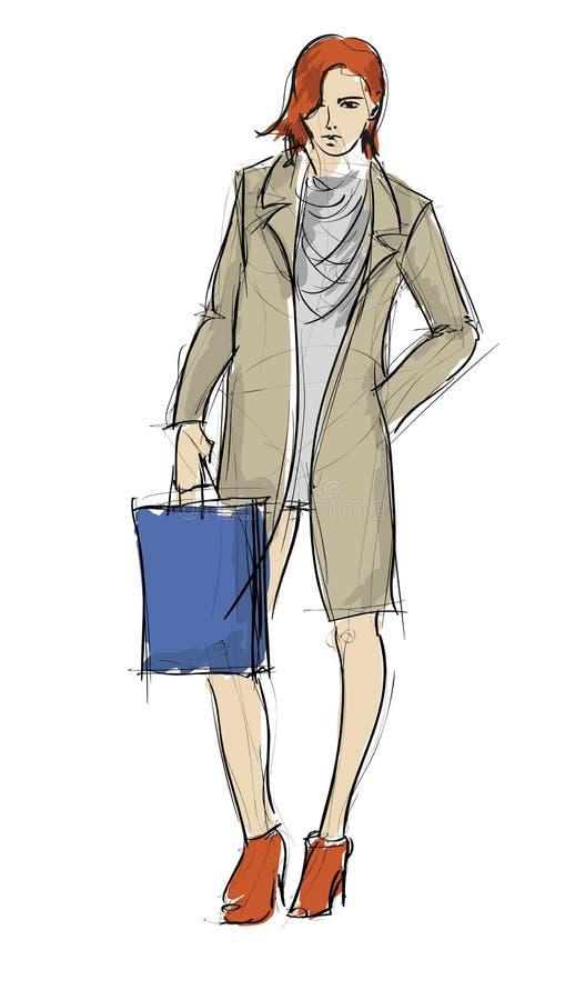 Download SKETCH. fashion girls stock illustration. Illustration of painting - 32783832
