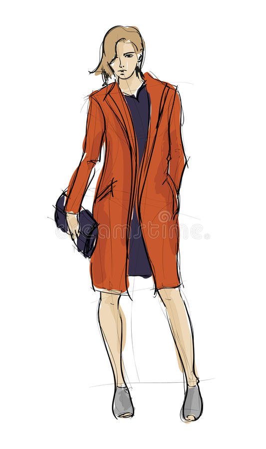 Download SKETCH. fashion girls stock illustration. Image of collection - 32783840