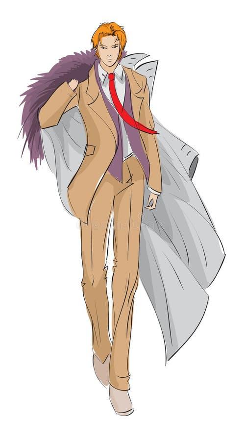 Sketch Fashion Man Stock Vector Illustration Of Image 23438377