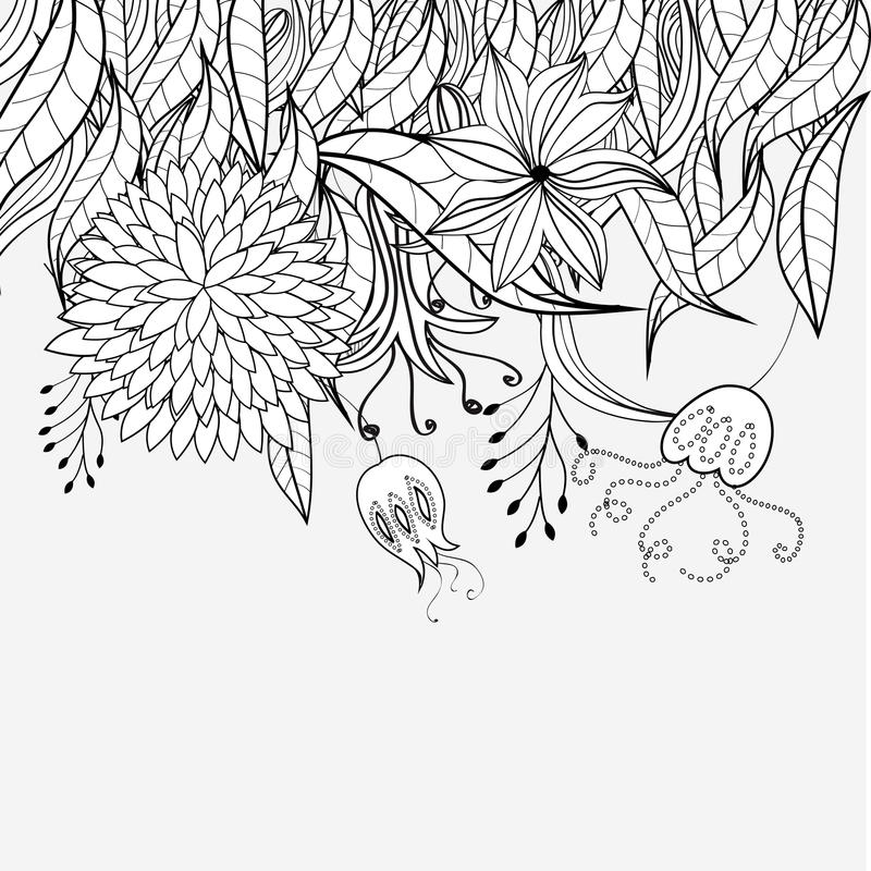 Download Sketch With Floral Ornament Royalty Free Stock Photo - Image: 13264755