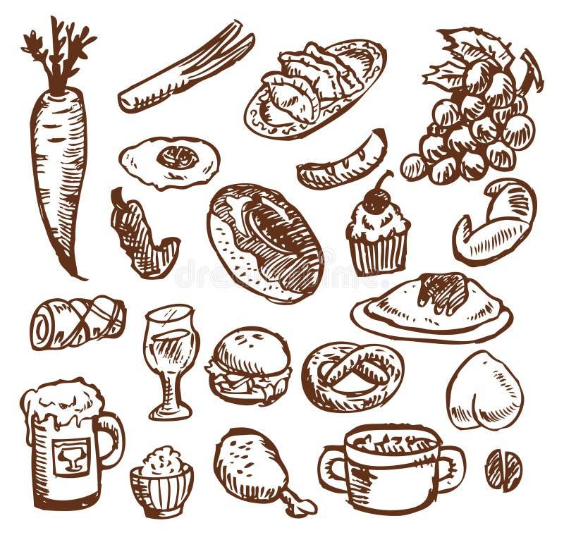 Sketch food vector illustration