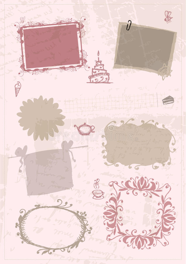 Sketch of frames, hand drawing for your design royalty free illustration