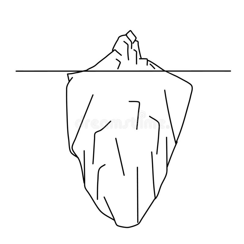 Sketch of iceberg royalty free stock images