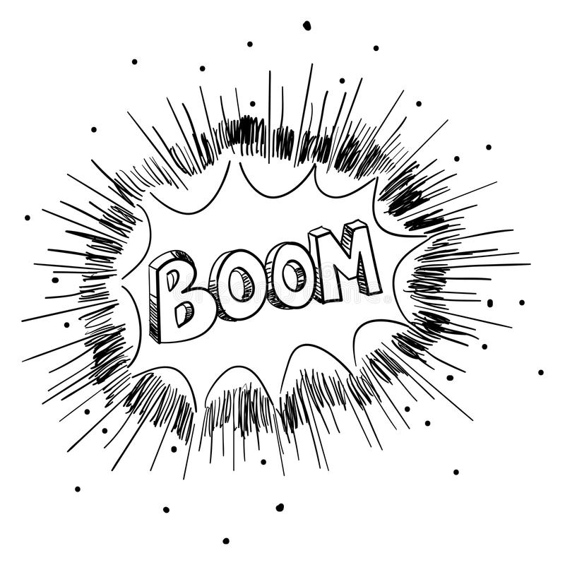 Sketch Illustration Of A Comic Explosion vector illustration