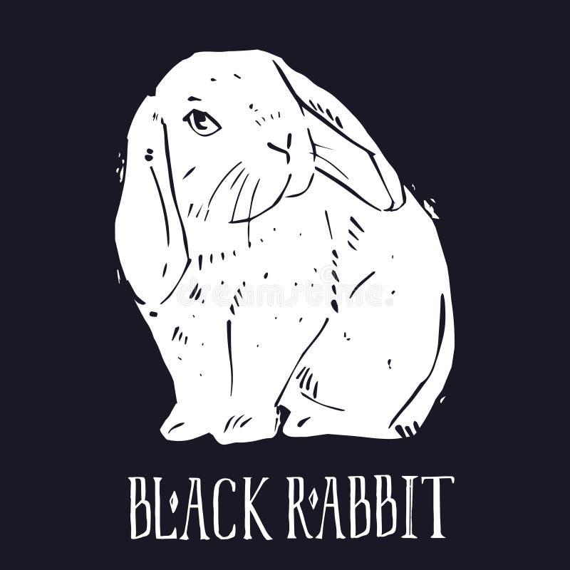lino cut print Lovely Bunny