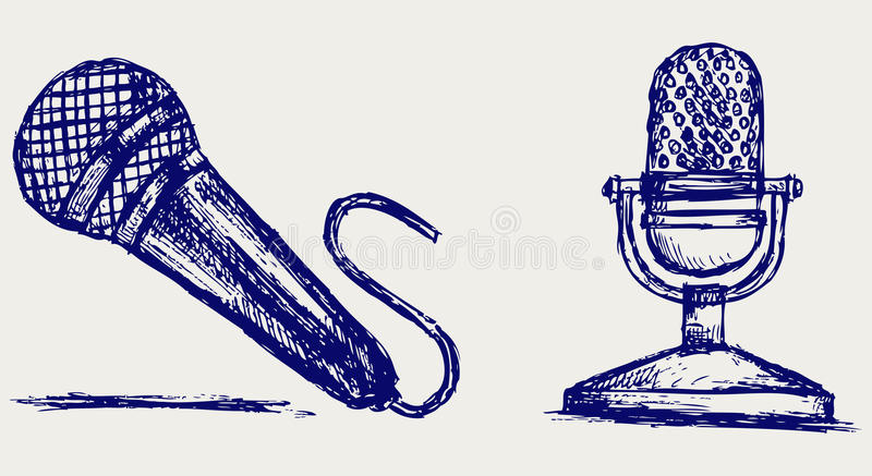 Download Sketch Microphone Stock Photography - Image: 26513662