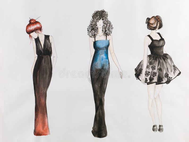 sketch mody ilustracja wektor