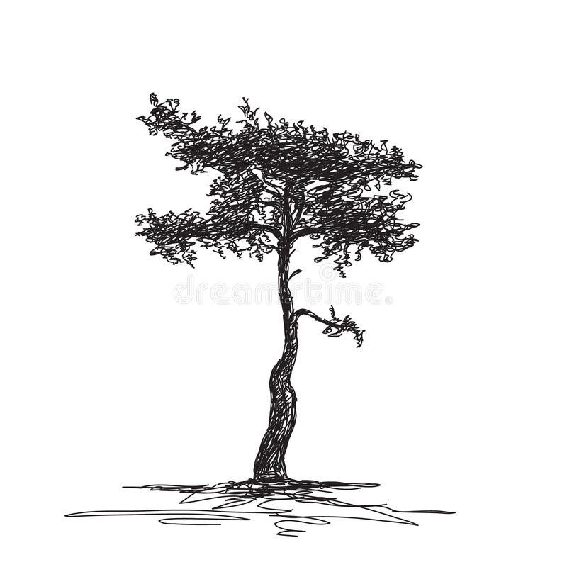 Free Sketch Of Isolated Tree Royalty Free Stock Photography - 40095957