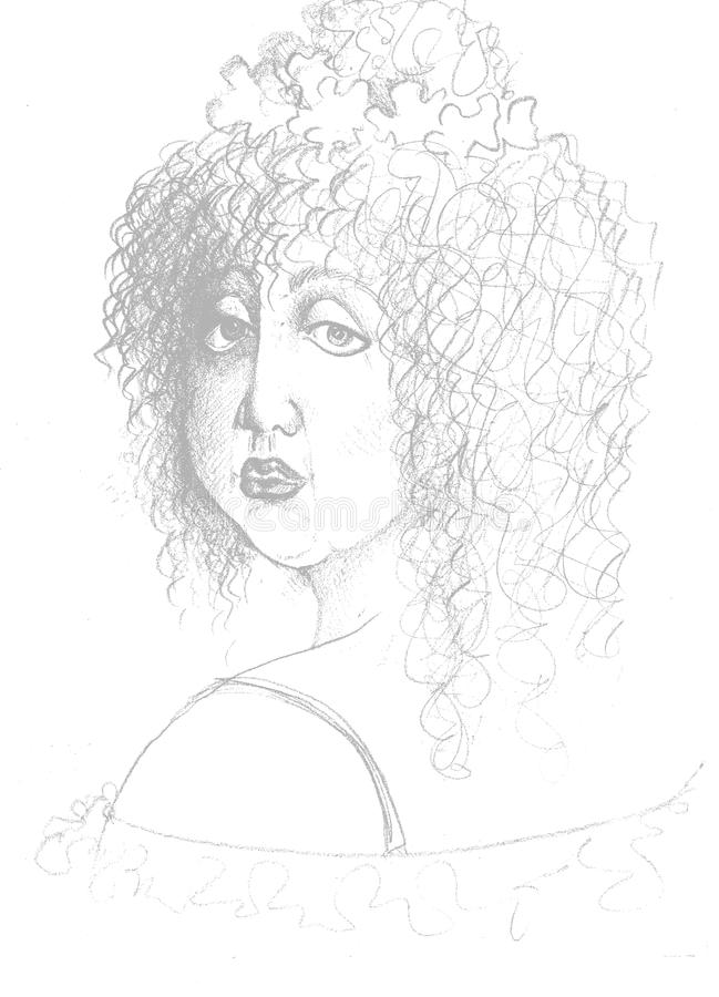 Free Sketch Of Woman Face Stock Photo - 62672020