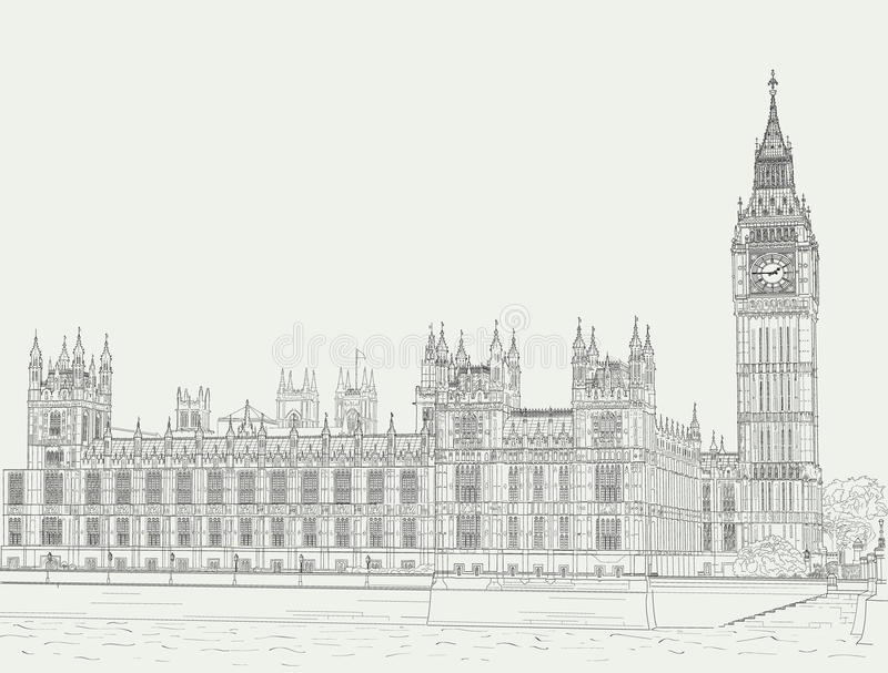 Download Sketch The Palace Of Westminster Stock Vector