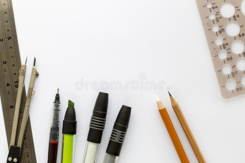 Download sketch paper and drawing tools stock image image of inspiration planning 48674293