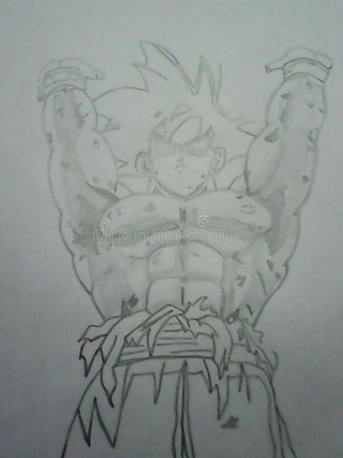 Download sketch pencil goku dragon ball z editorial photo image of pencil dragon