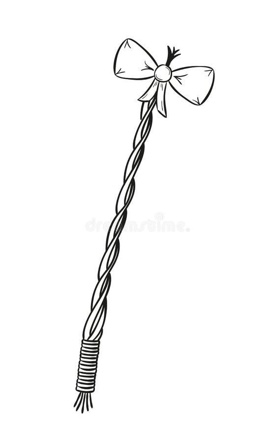 Sketch, pomlazka stock illustration