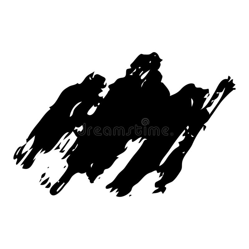 Hand drawn Paint Scribble Stains. Sketch Scribble Smear. Hand drawn Paint Scribble Stains. Vector illustration stock illustration