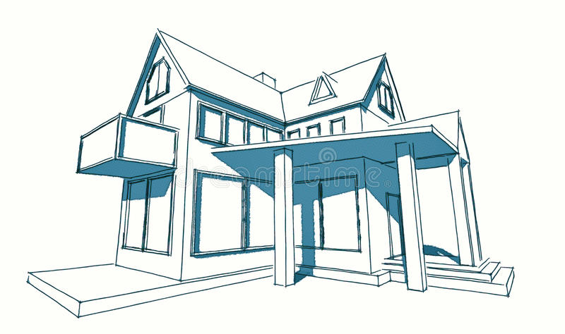 Sketch Of Simple House Stock Illustration Image 53553861