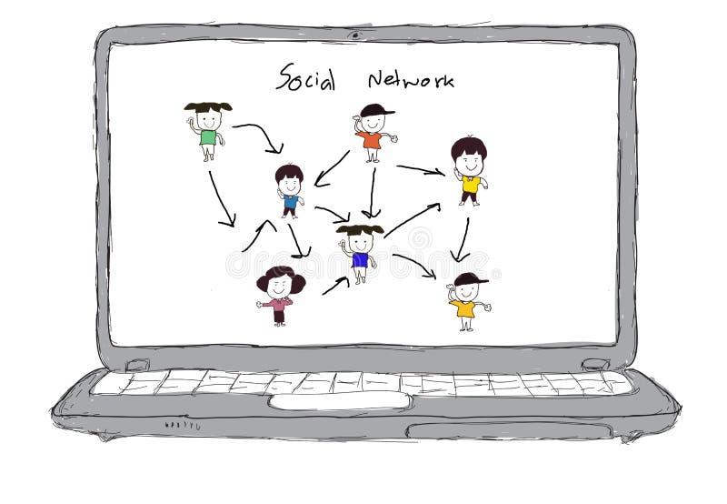 Download Sketch Social Networking Concept Stock Illustration - Image: 23461723